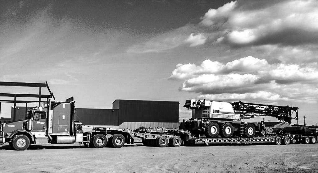 Oversized Transport Heavy Haul Equipment Transfer