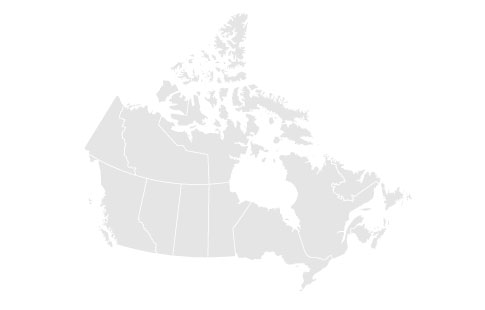western Canada transport map